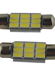 2PCS Carking™  Festoon 36MM/39MM/41MM 2W 9*5630SMD 215ML 6000K White Light LED Rome Lamp(DC 12V)