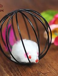 economico -Giocattolo per gatti Giocattoli per animali Interattivo Rompicapi Gabbia con peluche Mouse Per animali domestici