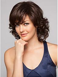 Cabelo Sintético perucas Ondulado Sem Touca Curto