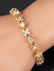 cheap -Women's Cubic Zirconia Gold Plated Tennis Bracelet - Gold Silver Bracelet For Christmas Gifts Wedding Party