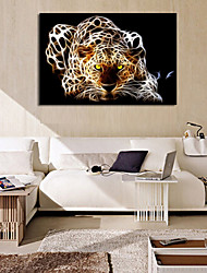 cheap -VISUAL STAR® Leopard Fantastic Canvas Wall Picture Art for Living Room Ready to Hang