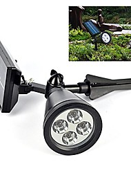 cheap -Solar Light Sensor 4-LED Spot Light Outdoor Lawn Landscape Path Way Garden Lamp