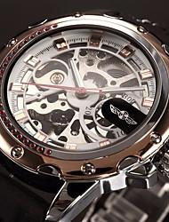 Недорогие -WINNER Муж. Наручные часы / Механические часы С гравировкой силиконовый Группа Роскошь Черный / С автоподзаводом