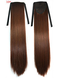 abordables -Corte Recto Sintético Pedazo de cabello La extensión del pelo 18 pulgadas # 10