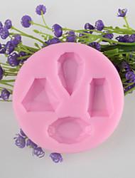 gem bolo fondant em forma de chocolate do molde de silicone, ferramentas de decoração bakeware