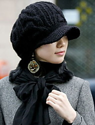 Women Warm Twist The Cap Earmuffs Knitted Cap