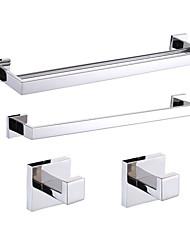 abordables -Sets d'accessoire de salle de bain - Contemporain - Miroir Poli - Fixation au Mur