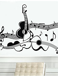 cheap -Decorative Wall Stickers - Plane Wall Stickers Music Living Room / Bedroom / Dining Room