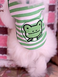 cheap -Cat Dog Shirt / T-Shirt Dog Clothes Stripe Cartoon Green Cotton Costume For Pets Cosplay Wedding