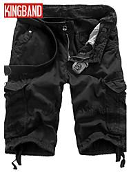 Pantaloncini Uomo Casual / Taglie forti Tinta unita Cotone Nero / Verde / Bianco / Giallo