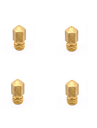 cheap -0.2 0.3 0.4 0.5mm Brass Nozzle Head for 3D Printer Makerbot MK8 - 1.75mm (4 PCS)