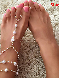 cheap -Women's Anklet/Bracelet Pearl Imitation Pearl Alloy Fashion Golden Women's Jewelry Daily Casual 1pc