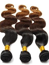 Недорогие -Человека ткет Волосы Евро-Азиатские волосы Естественные волны 3 предмета волосы ткет