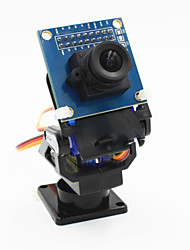 cheap -2-Axis FPV Camera Cradle Head + OV7670 Camera Set for Robot / R/C Car - Black + Blue