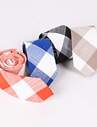 preiswerte -Männer Partei / Abend Hochzeit neue feine Leinen Gitter Krawatte lt001