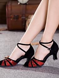 cheap -Women's Dance Shoes Modern Suede/Paillette Cuban Heel Outdoor  More  Colors