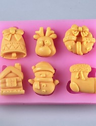 Christmas Products Fondant Cake Chocolate Silicone Mold, Fondant Cake Chocolate Silicone Mold, Decoration Tools Bakeware