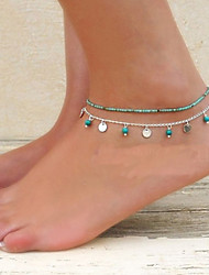 cheap -Anklet Barefoot Sandals - Turquoise Unique Design, Bikini, Fashion For Party / Daily / Casual / Women's