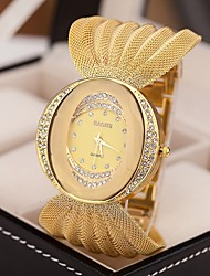 cheap -Women's Quartz Wrist Watch Imitation Diamond Alloy Band Sparkle Dress Watch Fashion Silver Brown Gold
