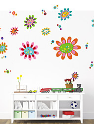 pared pegatinas de pared de estilo etiquetas engomadas de la pared de flores de color pvc