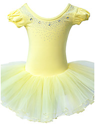 Yellow Ballet Tutu Dress Girl Princess Dress Puff Cotton Leotard Ballet Tutu Dance Party Costume for Toddler Girl