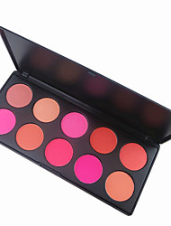 cheap -10 Colors Blush Blusher Powder Makeup Cosmetic Palette High Quality Showy Color
