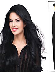 baratos -Queratina / Ponta U Extensões de cabelo humano Liso Cabelo Humano Fuxia Loiro claro lila