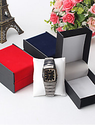cheap -Men's Women's Jewelry Boxes Black Red Blue Paper Fashion Daily