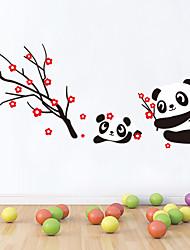 billige -Wall Stickers væg decals stil panda pvc wall stickers