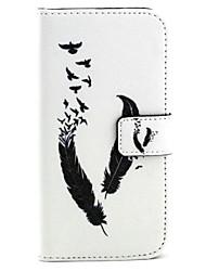 preiswerte -Hülle Für Samsung Galaxy Samsung Galaxy Hülle Geldbeutel / Kreditkartenfächer / mit Halterung Ganzkörper-Gehäuse Feder PU-Leder für S6 edge / S6 / S5