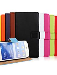 preiswerte -Hülle Für Samsung Galaxy Samsung Galaxy Hülle Geldbeutel / Kreditkartenfächer / mit Halterung Ganzkörper-Gehäuse Solide PU-Leder für Ace Style LTE