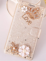 cheap -Case For Samsung Galaxy Samsung Galaxy Case Card Holder / Rhinestone / with Stand Full Body Cases 3D Cartoon PU Leather for Trend Duos / Trend 3 / J7 (2016)