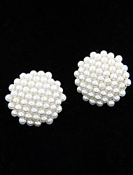 cheap -Stud Earrings Pearl Imitation Pearl Alloy Fashion Jewelry 2pcs
