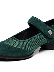 女性用 - ダンスシューズ (ブラック/グリーン/レッド) - 非カスタマイズ可能 - フラット - ダンススニーカー/縫う靴