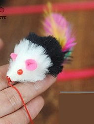 cheap -Cat Toy Pet Toys Teaser Feather Toy Mouse Textile For Pets