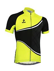 Arsuxeo Maglia da ciclismo Per uomo Manica corta Bicicletta Maglietta/Maglia Top Asciugatura rapida Design anatomico Zip anteriore