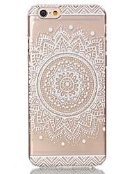 Недорогие -Кейс для Назначение Apple iPhone 6 Plus / iPhone 6 Прозрачный / С узором Кейс на заднюю панель Цветы Твердый ПК для iPhone 6s Plus / iPhone 6s / iPhone 6 Plus
