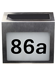 cheap -Solar House Number Sign Rechargeable Stainless Steel LED Doorplate Light