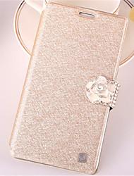 economico -Custodia Per Samsung Galaxy Samsung Galaxy Custodia Porta-carte di credito / Con diamantini / Con supporto Integrale Glitterato pelle sintetica per Win / Style Duos / J7 (2016)