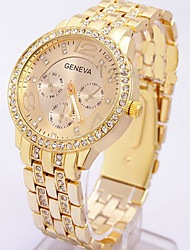 cheap -Geneva Women's Quartz Wrist Watch Fashion Watch Casual Watch Alloy Band Wrist Watch Elegant Gold