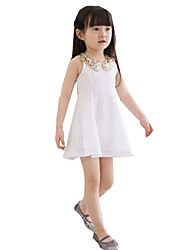 cheap -Waboats Girls Sequins Lace Sleeveless 3-7 Years Party Dress