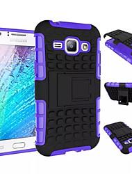 preiswerte -DE JI Hülle Für Samsung Galaxy Samsung Galaxy Hülle Stoßresistent / mit Halterung Rückseite Rüstung PC für Young 2 / J1 / Grand Prime