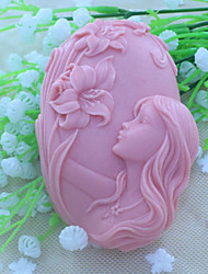 Beautiful Faery  Soap Mold  Fondant Cake Chocolate Silicone Mold, Decoration Tools Bakeware