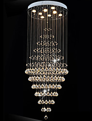 cheap -Modern LED Crystal Chandelier Lighting Pendant Lights Ceiling Lamp Fixtures with 8 Bulbs D60CM H180CM CE FCC UL