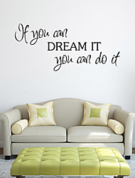 cheap -Wall Stickers Wall Decals Style If You Can English Words & Quotes PVC Wall Stickers