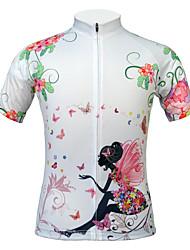 preiswerte -JESOCYCLING Fahrradtrikot Damen Kurzarm Fahhrad Trikot/Radtrikot Oberteile Rasche Trocknung UV-resistant Staubdicht antistatisch