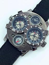 お買い得  -JUBAOLI 男性用 軍用腕時計 クォーツ レザー ブラック / レッド / ブラウン カレンダー ハンズ Brown ワイン ダークグリーン