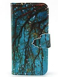 preiswerte -Hülle Für Samsung Galaxy Samsung Galaxy Hülle Geldbeutel / Kreditkartenfächer / mit Halterung Ganzkörper-Gehäuse Baum PU-Leder für S6 edge / S6 / S5 Mini