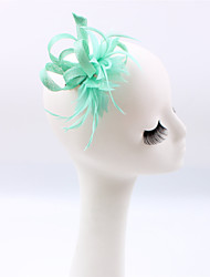 cheap -Flax Feather Fascinators 1 Wedding Special Occasion Casual Outdoor Headpiece