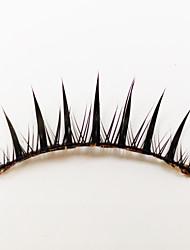 1 Cílios Pestana Tiras Completas de Cílios Olhos Fabrico à Máquina Fibra Black Band 0.05mm 11mm